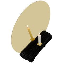 Brass Mirror Candle Holder - Dessislava Madanska