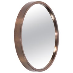 Brass Mirror Model 131, Glasmäster, Markaryd, Sweden, 1960s