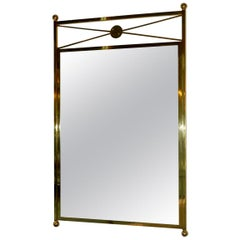 Brass Mirror Modernist Mid-Century