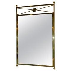 Brass Mirror Modernist Mid-Century Modern