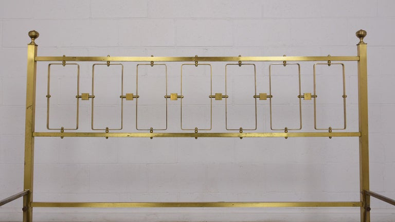 Mid-20th Century Italian Brass Modern Queen Bed Frame For Sale