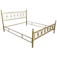 Italian Brass Modern Queen Bed Frame