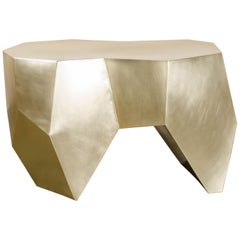 Brass Molar Seat by Robert Kuo, Hand Repoussé, Limited Edition