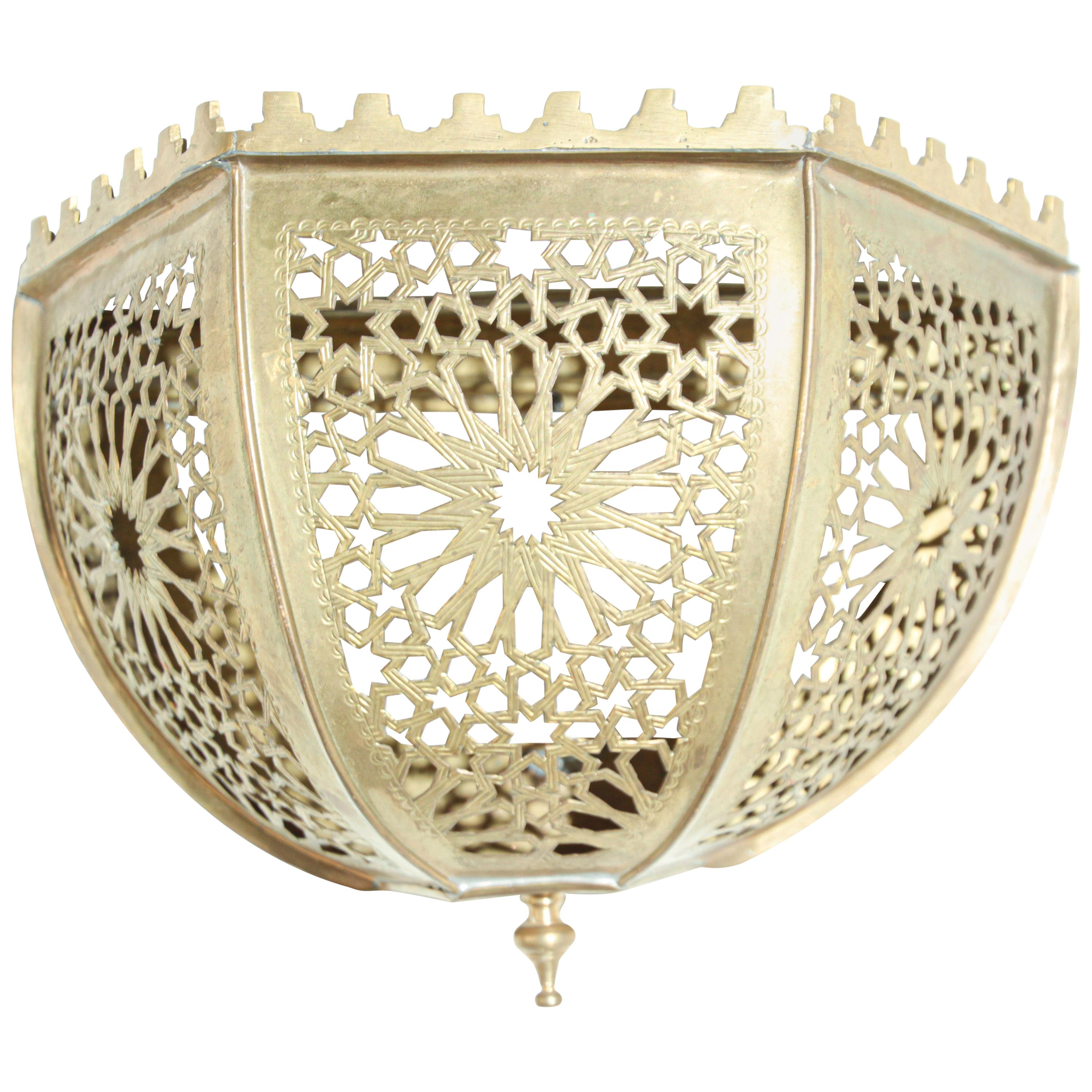 Brass Moroccan Art Wall Sconce Shade