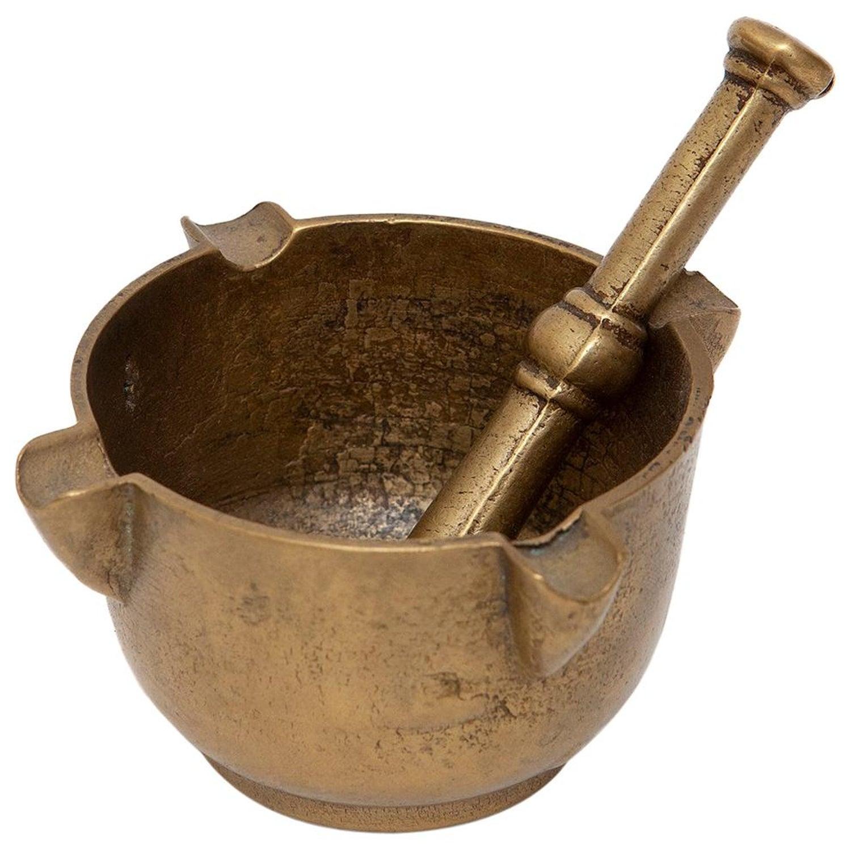 Brass Mortar and Pestle Minature