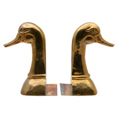 Brass Mother Goose Bookends