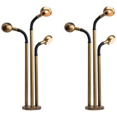 Brass Multi-Arm Floor Lamps