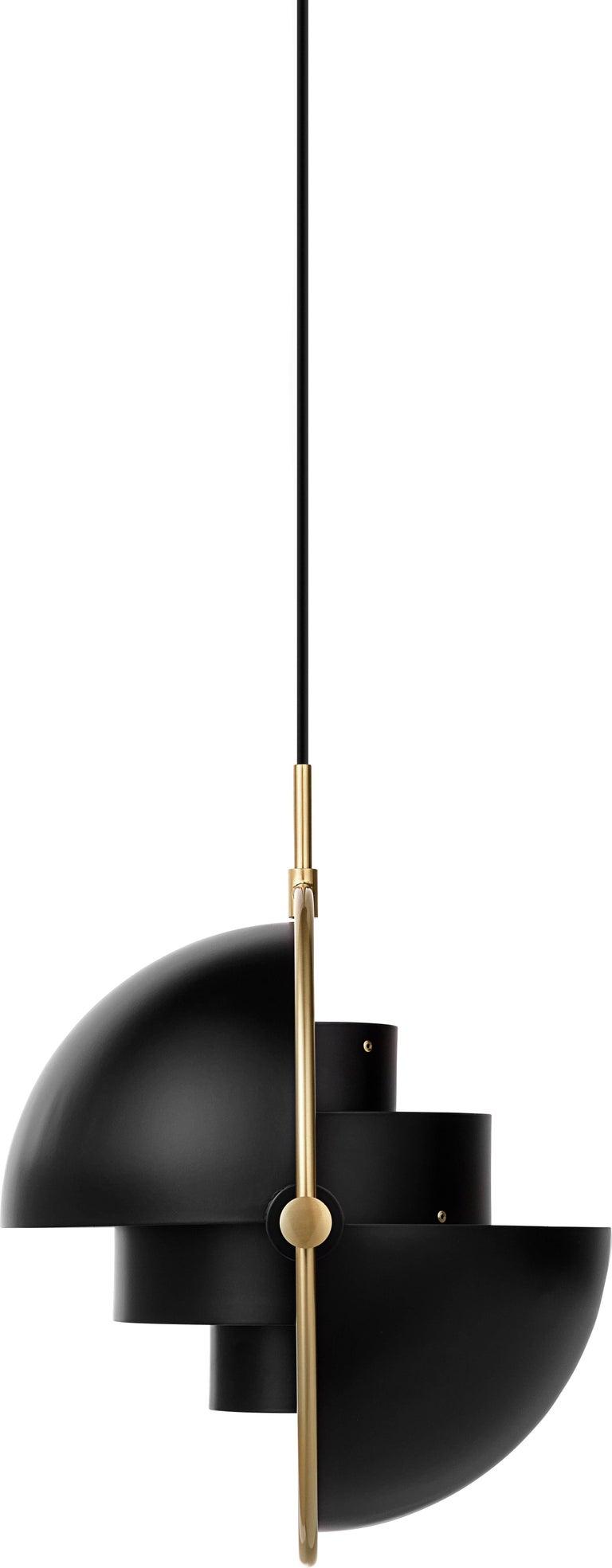 Post-Modern Brass Multi-Light Pendant, Louis Weisdorf For Sale
