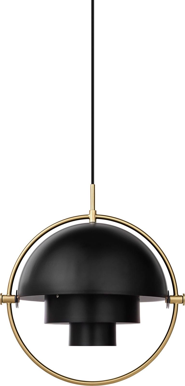 Brass Multi-Light Pendant, Louis Weisdorf For Sale 1