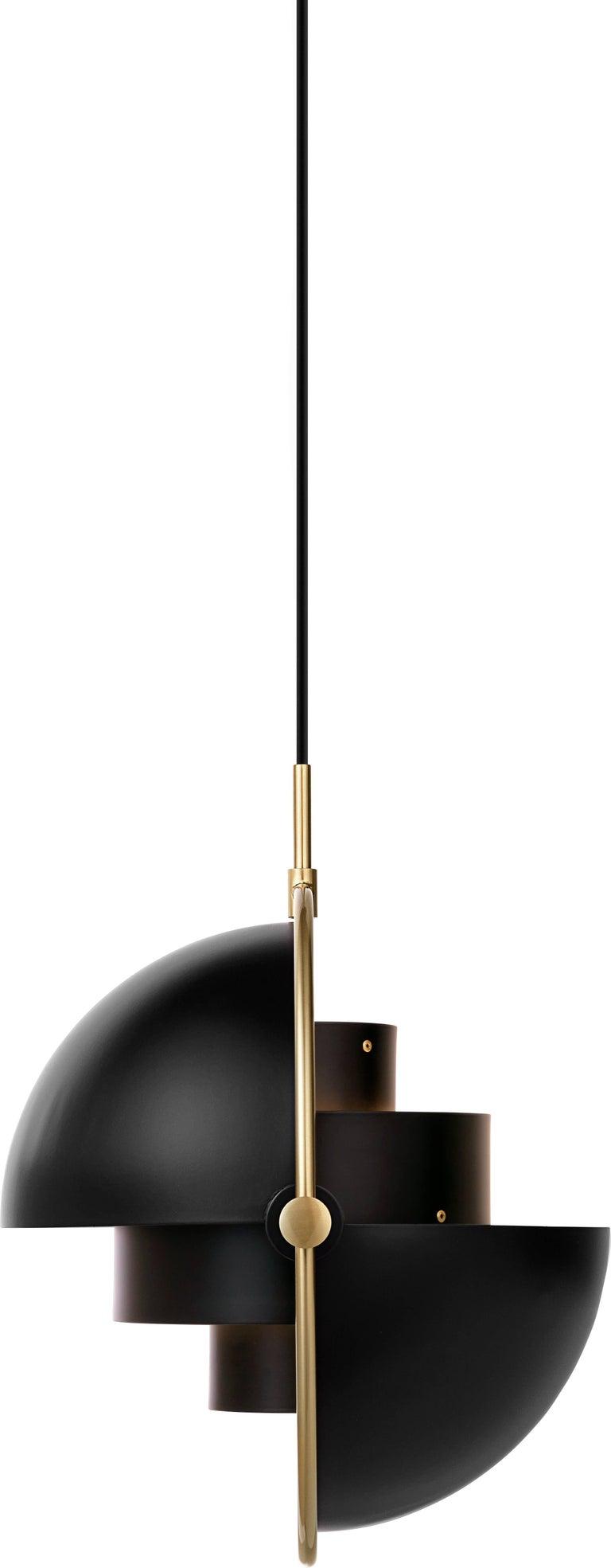 Brass Multi-Light Pendant, Louis Weisdorf For Sale 3