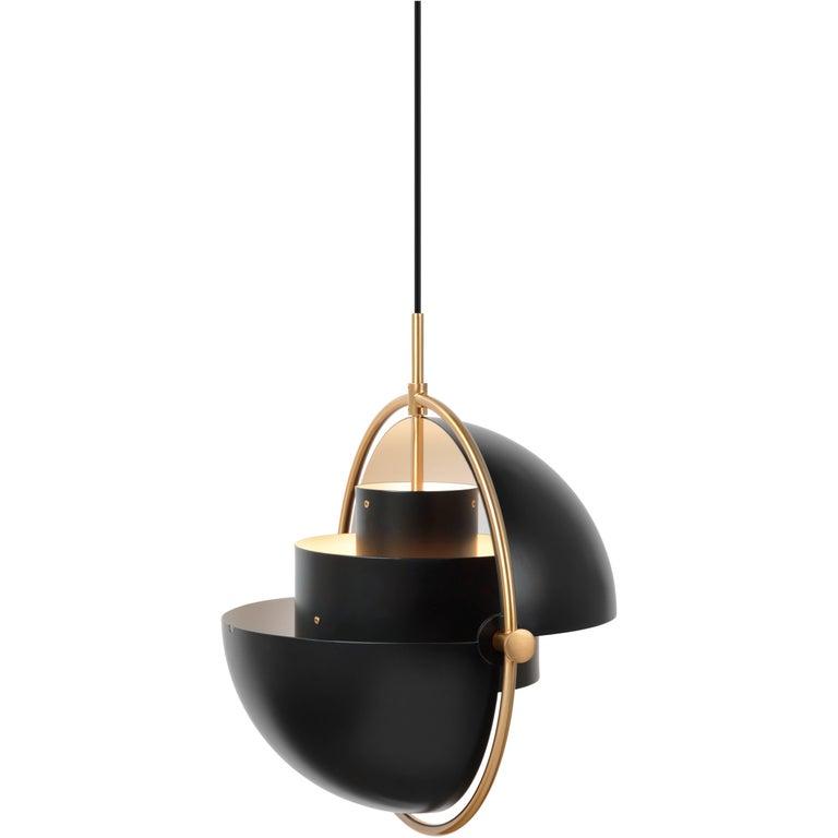 Brass Multi-Light Pendant, Louis Weisdorf For Sale