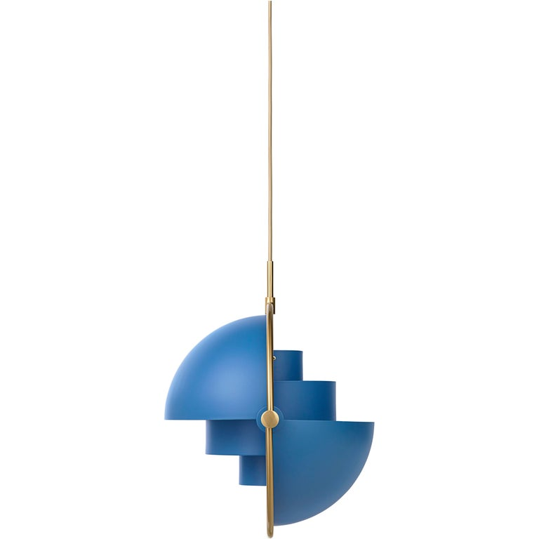 Brass Multi-Light Pendant, Louis Weisdorf