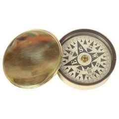 Brass Nautical Compass Made in UK in the Second Half of the 19th Century