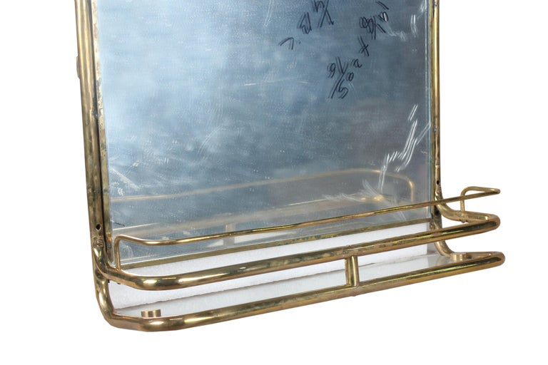 Brass Nautical Wall Mirror from Ship's Stateroom, C. 1970's 3