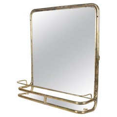 Brass Nautical Wall Mirror from Ship's Stateroom, C. 1970's