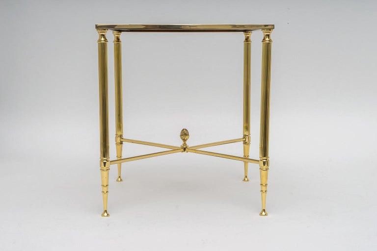 Hollywood Regency Brass Nesting Tables For Sale