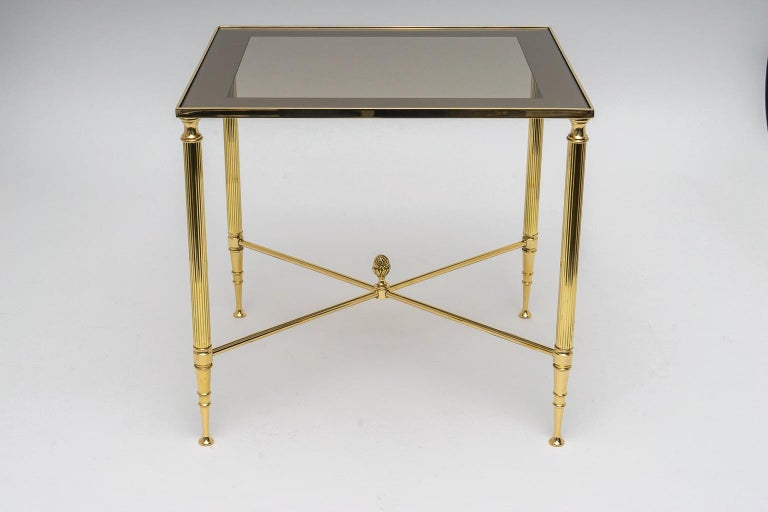French Brass Nesting Tables For Sale