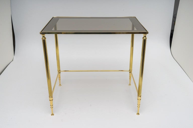 Brass Nesting Tables In Good Condition For Sale In West Palm Beach, FL
