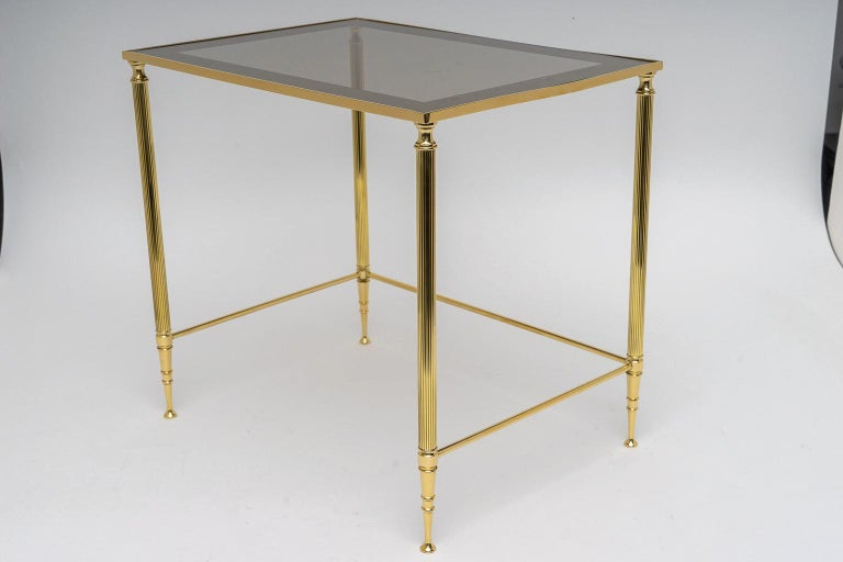 20th Century Brass Nesting Tables For Sale