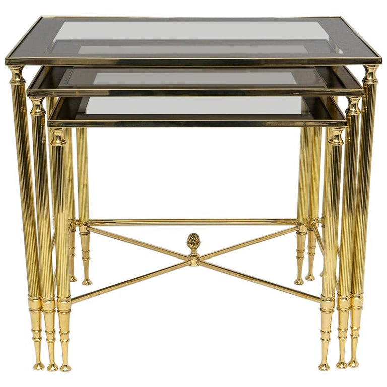 Brass Nesting Tables For Sale