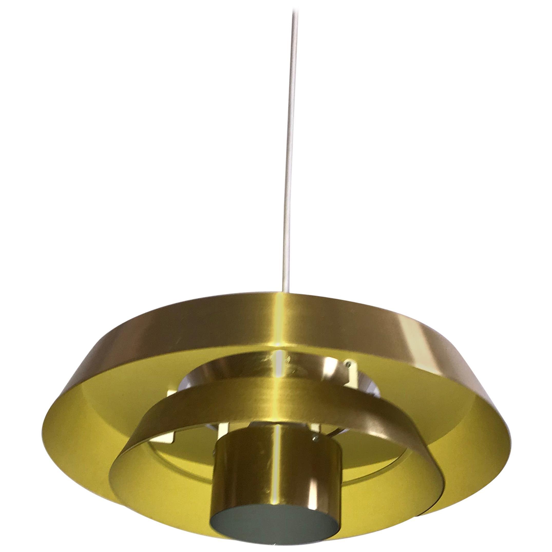 Brass Nova Pendant by Jo Hammerborg for Fog & Morup