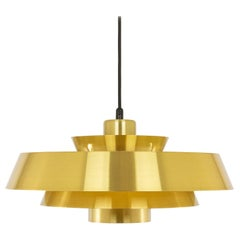 Brass Nova Pendant by Jo Hammerborg for Fog & Mørup, 1960s