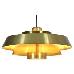 Brass Nova Pendant by Jo Hammerborg for Fog & Mørup