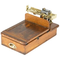 Brass and Oak Weighting Scales by Avery of Birmingham