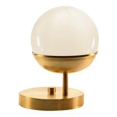 Brass Off Center Globe Table Light