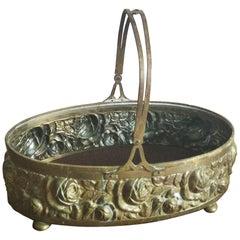 Brass or Bronze Basket Centerpiece