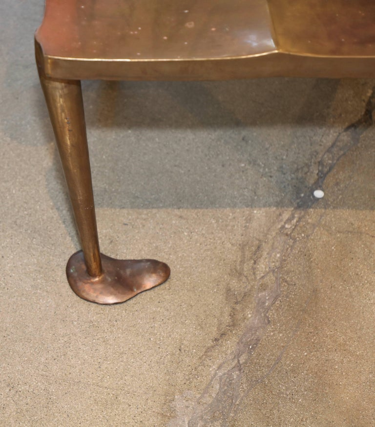 Unknown Brass or Bronze Handcrafted Chair For Sale