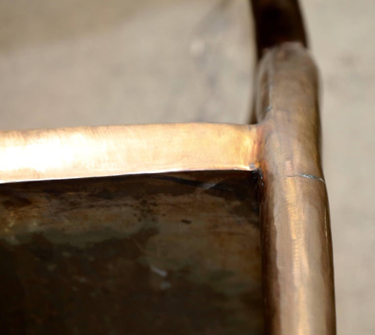 Brass or Bronze Handcrafted Chair For Sale 2