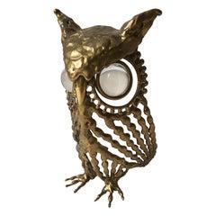 Brass Owl with Glass Eyes, 1974