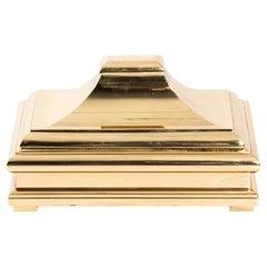 Brass Pagoda Lid Box by Chapman