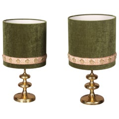Brass Pair of Lamp