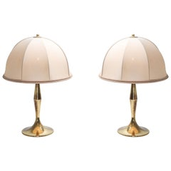 Brass Pair of Lamps in the Style of Gabriela Crespi