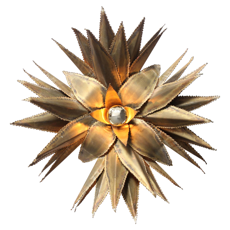 Brass Palm Tree Brass Sconces