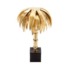 Brass Palms Table Lamp