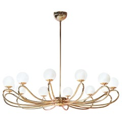Brass Papillon 7207/12 Ceiling Light Fixture by Matteo Zorzenoni