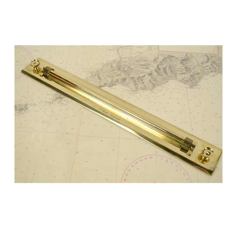 Brass Parallels Signed W. Heath Plymouth 1860 circa For Sale 4
