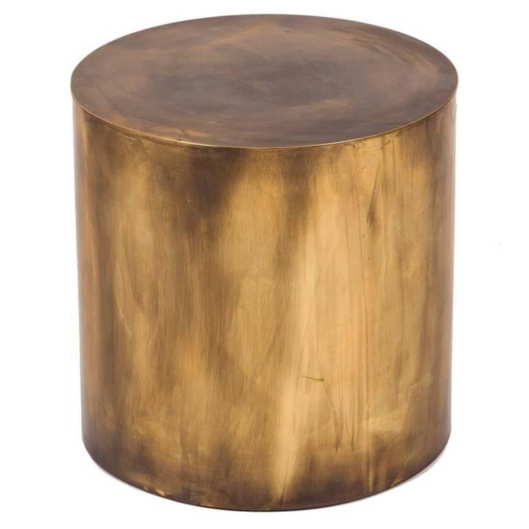 Pebble drum side table for sale at stdibs