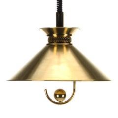 Brass Pendant by Frandsen Lighting 1970s Danish Midcentury Polished Brass Lamp
