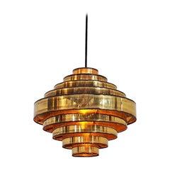 Brass Pendant Designed by Holm Sørensen, Danish Vintage Design from the 1960s