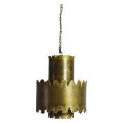 Brass Pendant Lamp Designed by Svend Aage Holm Sørensen in the 1960s, Denmark