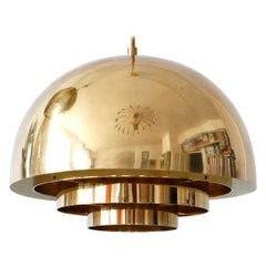 Brass Pendant Lamp Dome by Vereinigte Werkstätten München in 1960s, Germany