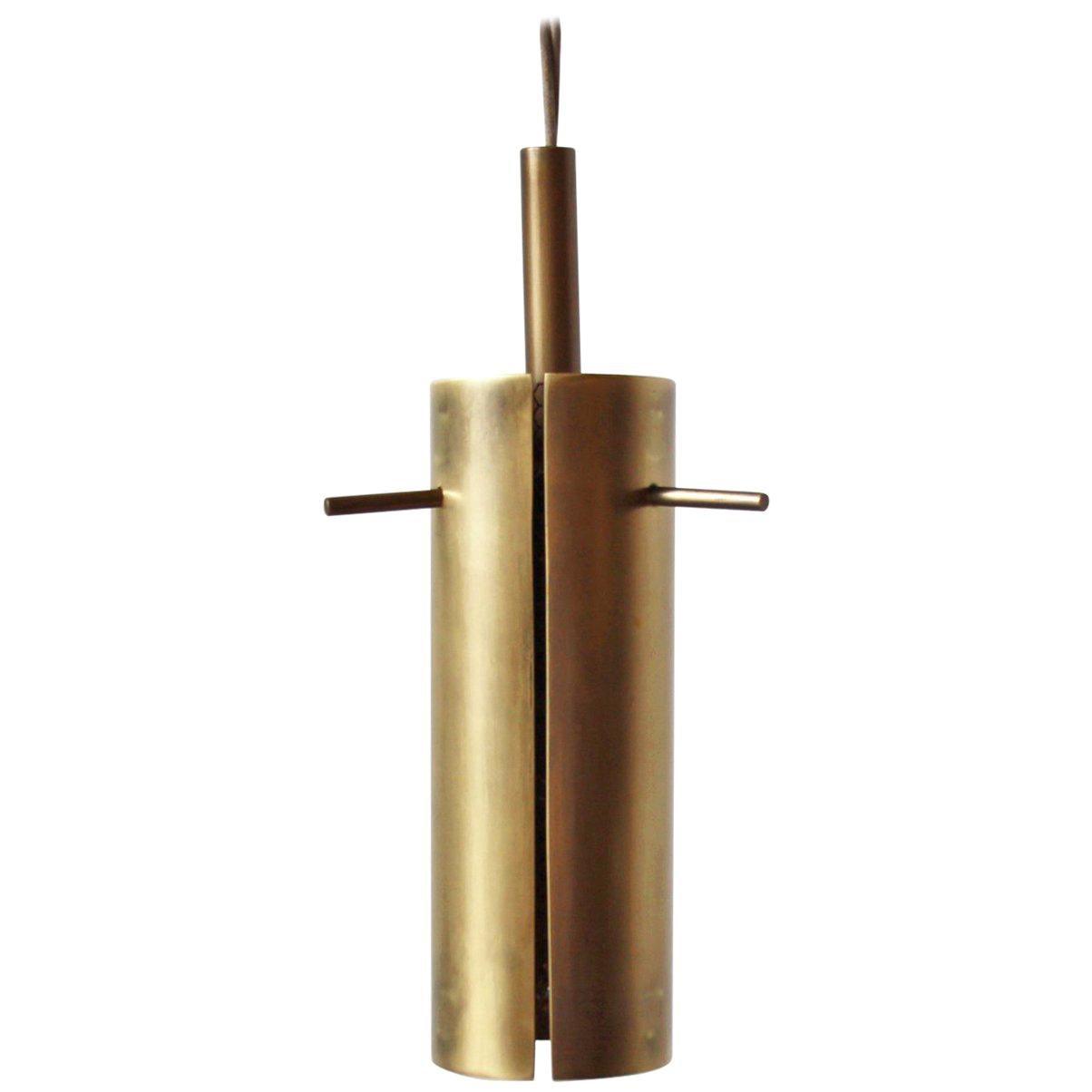 Brass Pendant Light by Thomas Hayes Studio