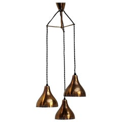 Brass Pendants in Paavo Tynell Style, Scandinavian Design from the 1950s