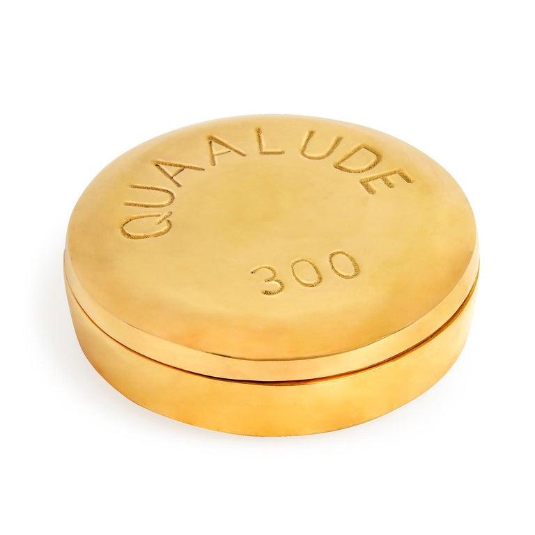 Contemporary Brass Pill Box Set For Sale