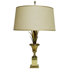 Brass Pineapple Leaf Table Lamp, 1960s