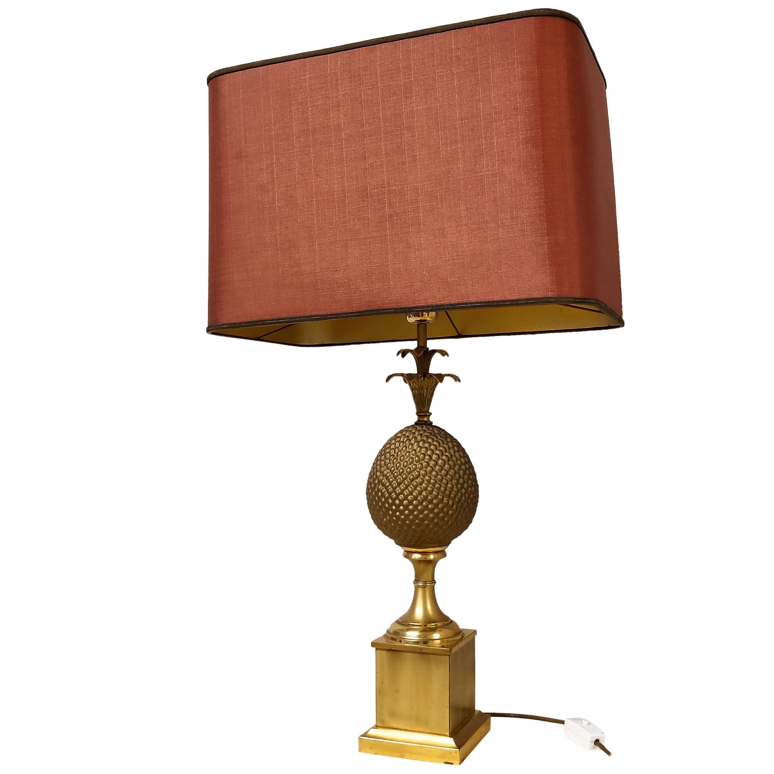 Brass Pineapple Table Lamp, 1970s